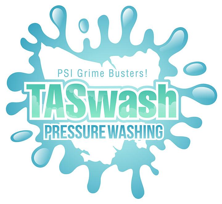 TASwash Pressure Washing Logo